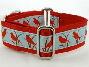 Red bird collar from 2 Hounds Designs